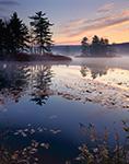 Early Fall Morning on Harvard Pond, Petersham, MA