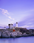 Late Evening at Nubble Light, (Cape Neddick Lighthouse), Cape Neddick, York, ME