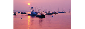Sunrise, Provincetown Harbor, Cape Cod, Massachusetts