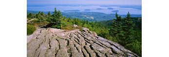 Granite, Bar Harbor and Porcupine Islands, Cadillac Mountain,  Acadia National Park, ME