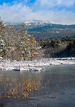 Perkins Pond and Mount Monadnock in Winter, Troy and Jaffrey, NH