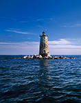 Whaleback Lighthouse and Sailboat, Kittery, ME