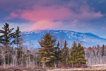 Pink Clouds and Late Evening Light over Mt. Monadnock, View from Fitzwilliam, NH