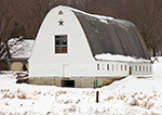 Big White Barn in Winter, Westmoreland, NH