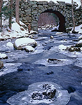 Keystone Bridge and Middle Branch Swift River in Winter, Quabbin Reservation, New Salem, MA