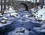 Keystone Bridge and Middle Branch Swift River in Winter, Quabbin Reservation, New Salem, MA