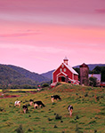 Dairy Farm at Sunset, Rochester, VT