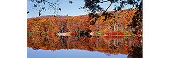 Fall Foliage and Reflections at Lake Skannatati, Harriman State Park, Tuxedo, NY