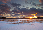 Sunset over South Spectacle Pond in Winter, Quabbin Reservation, New Salem, MA