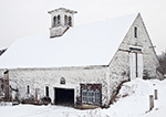 Old White Barn with Cupola after Snowfall, Westminster, VT
