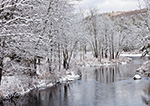 Woodlands along Tully River after Fresh Snowfall, Royalston, MA
