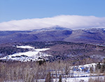 Rural Vermont Landscape and Haystack Mountain in Winter, Overview from Wilmington, VT