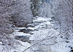 East Branch of the North River and Woodlands after Fresh Snowfall, Halifax, VT