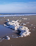 "Natural ""Foam"" and Surf on Beach, Bodie Island, Atlantic Ocean, Cape Hatteras National Seashore, Outer Banks, NC"