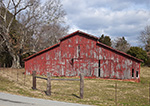 Old Barn with Weathered Red Paint, Polk County, GA