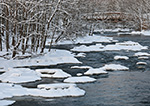 Old Bridge across Millers River after Fresh Snowfall, South Royalston, MA
