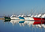 Early Morning Light on Sport Fishing Boats at Oregon Inlet Marina Fishing Center, Bodie Island, Outer Banks, NC