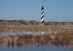 Cape Hatteras Lighthouse Reflecting in Marsh Waters, Cape Hatteras National Seashore, Outer Banks, NC