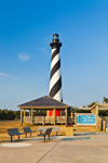 Cape Hatteras Lighthouse with Pavillion and Benches, Cape Hatteras National Seashore, Outer Banks, NC