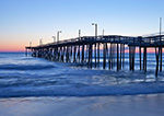 Predawn at Nags Head Fishing Pier and Beach, Outer Banks, Nags Head, NC