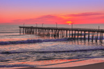 Sunrise at Nags Head Fishing Pier and Beach, Outer Banks, Nags Head, NC