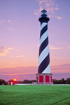 Sunrise at Cape Hatteras Lighthouse, Cape Hatteras National Seashore, Outer Banks, NC