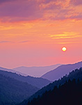 Setting Sun at Morton Overlook, Great Smoky Mountains National Park, TN
