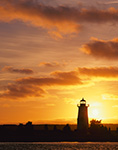Sunrise and Edgartown Lighthouse, Martha's Vineyard, Edgartown, MA