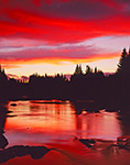 Spectacular Sunset, Swift Diamond River, Great North Woods,  Second College Grant, NH