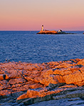 Dawn at Isles of Shoals (White Island) Lighthouse as seen from Star Island Shoreline, Isles of Shoals, Rye, NH