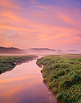 Salt Marsh and Little River at Sunrise, Newbury, MA