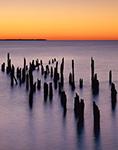 Remains of Old Pier, Potomac River at Frances Karn Boardwalk, Colonial Beach, VA
