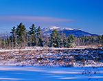 View of Mt. Monadnock and Scott Brook Wetlands in Winter from Fitzwilliam, NH
