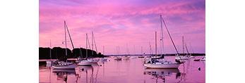 Sailboats at Predawn, Pine Island Bay, Groton, CT
