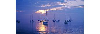 Sailboats in Evening Light, Westport Harbor Westport, MA