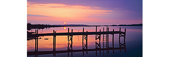 Abandoned Wharf at Sunrise, Jarrett Bay, Williston, NC