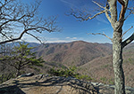 View of Mountains in Early Spring from 20-Minute Cliff Overlook on Blue Ridge Parkway, George Washington National Forest, Nelson County, VA