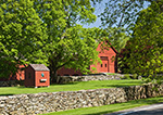 Red Barns and Stonewalls in Spring, Thompson, CT