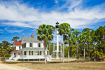 Cape San Blas Lighthouse and Keeper's House, Cape San Blas, Gulf Coast, Gulf of Mexico, Florida Panhandle, Gulf City, FL
