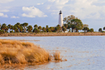 Late Afternoon Light on St. Marks Lighthouse and Salt Marsh, St. Marks National Wildlife Refuge, National Historic Site, Gulf Coast, Florida Panhandle, Gulf of Mexico, Wakulla County, FL