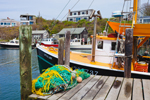 "Commercial Fishing Boat ""Little Lady"" at Dock in Menemsha Harbor, Martha's Vineyard, Village of Menemsha, Chilmark, MA"