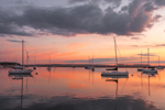 Predawn Light over Sailboats in Sag Harbor, Long Island, Village of Sag Harbor, East Hampton, NY
