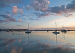 Early Morning Light over Sailboats with Reflections in Sag Harbor, Long Island, Village of Sag Harbor, East Hampton, NY