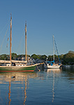 Sailboats in Stirling Harbor (Basin), Long Island, Village of Greenport, Southold, NY