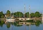 Sailboats in Stirling Harbor (Basin), Long Island, Village of Greenport, Southold, NY