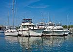 Boats at Three Mile Harbor Boat Yard, Three Mile Harbor, Long Island, East Hampton, NY