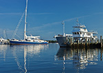 Yachts Reflecting in Sag Harbor, Long Island, Village of Sag Harbor, East Hampton, NY