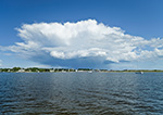 View from Little Narragansett Bay of Retreating Thunderstorm over Watch Hill, Westerly, RI