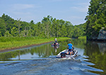 Fishermen on Seldon Creek, Seldon Neck State Park (off Connecticut River), Lyme, CT