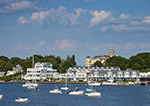 Boats in Watch Hill Cove with Town Buildings in Background, Village of Watch Hill, Westerly, RI